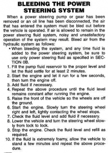 Bleeding the Hydroboost system (brake booster), the power steering system, and the AutoPark system