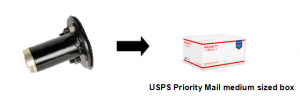 Pack your cylinder in USPS Priority Mail medium sized box