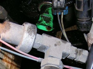Here is a picture of a leaking/oily RGS