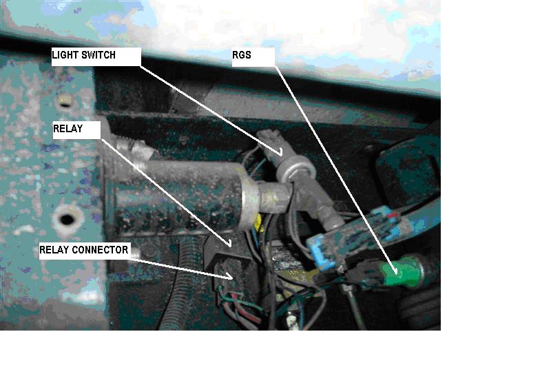 autopark parking brake system pump motor relay locating