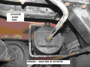 From about 1989 to mid 1994, the AutoPark ver I parking brake actuator was a pretty good sized mechanism | Parking brake drum and the driveshaft seen on the left